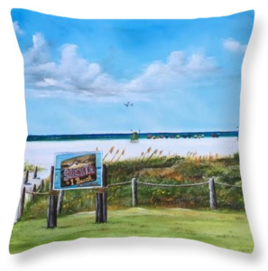 """Siesta Key Public Beach"" Throw Pillow BUY"