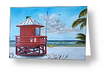 """Siesta Key Red Lifeguard Shack"" Greeting Card BUY"