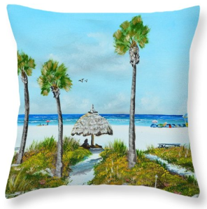 """Sirata Beach Resort Paradise Beach"" Throw Pillow BUY"