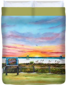 """Sunset At Siesta Key Public Beach"" Duvet Cover BUY"