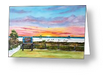 """Sunset At The Siesta Key Public Beach"" Greeting Card BUY"