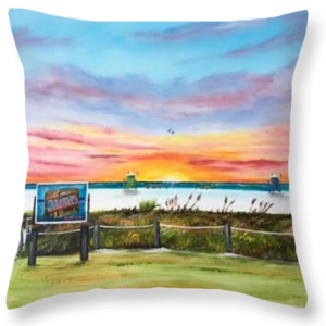 """Sunset At Siesta Key Public Beach"" Throw Pillow BUY"