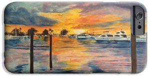 """Sunset At The Yacht Club"" Cell Phone Case BUY"