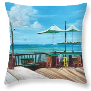 """Sunset Pier Key West"" Throw Pillow BUY"