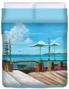 """Sunset Pier Key West"" Duvet Cover BUY"
