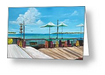 """Sunset Pier Key West"" Greeting Card BUY"