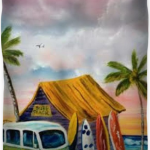Surf Shack At Sunset Duvet Cover   BUY