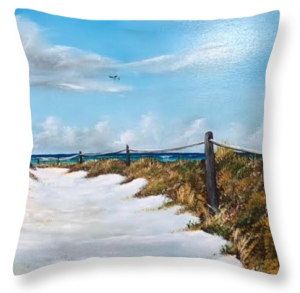 """To The Beach"" Throw Pillow BUY"