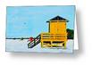 """Yellow Lifeguard Shack On Siesta Key"" Greeting Card BUY"