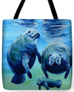 """A Manatee Family"" Tote Bag BUY"