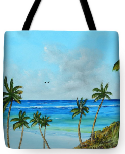 """A Piece Of Paradise"" Tote Bag BUY"