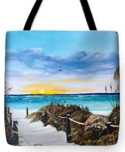 """Access The Siesta Key Sunset"" Tote Bag BUY"