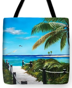 """Access To The Beach"" Tote Bag BUY"