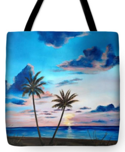 """Another Paradise Sunset"" Tote Bag BUY"