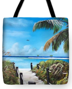 """Beach Time On The Key"" Tote Bag BUY"