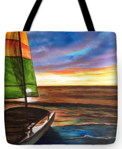 """Catamaran On Siesta Key"" Tote Bag BUY"