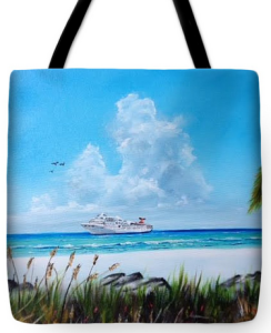 """Destination Paradise"" Tote Bag BUY $32"