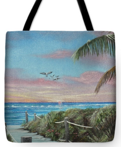 """Go This Way To The Beach"" Tote Bag BUY"