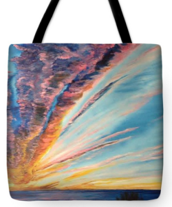 """God's Sunset Masterpiece On Siesta Key"" Tote Bag BUY"