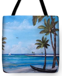 """Island Paradise"" Tote Bag BUY"