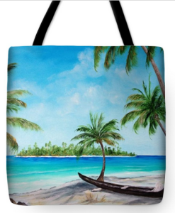 """Kayak On The Beach"" Tote Bag BUY"
