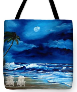 """Let's Watch The Moon Light"" Tote Bag BUY"