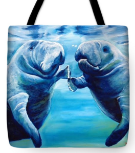 """Manatees Socializing"" Tote Bag BUY"
