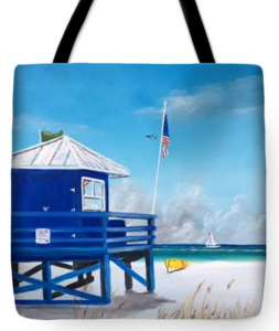 """Meet At Blue Lifeguard"" Tote Bag BUY"
