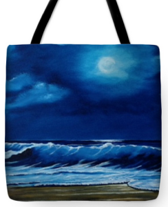 """Moon Light Night In Paradise"" Tote Bag BUY"