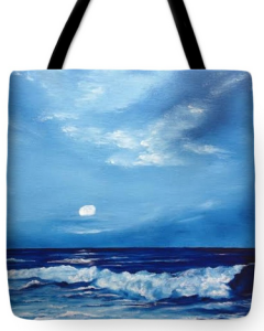 """Moon Light Wave"" Tote Bag BUY"