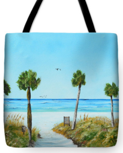 """Our Paradise On The Key"" Tote Bag BUY"