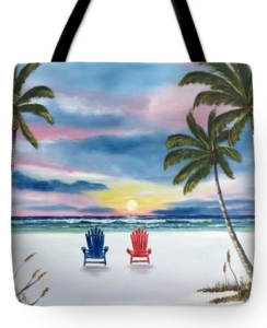 """Our Spot At Sunset"" Tote Bag BUY"