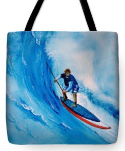 """Paddle Board Adventure"" Tote Bags BUY"