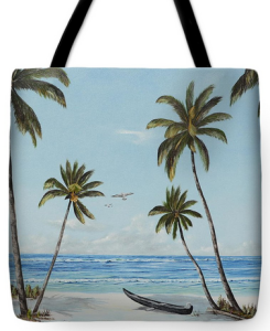 """Paradise Beach"" Tote Bag BUY"