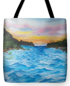 """Path To The Key At Sunset"" Tote Bag BUY"