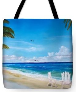 """Relaxing At The Beach"" Tote Bag BUY"