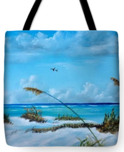 """Sea Grass On The Key"" Tote Bag BUY"