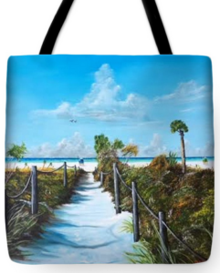 """Siesta Beach Access"" Tote Bag BUY"