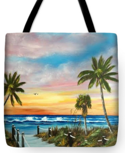 """Siesta Key At Sunset"" Tote Bag BUY"