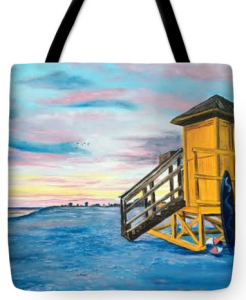 """Siesta Key Life Guard Shack"" Tote Bag BUY"