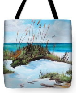 """Sugar White Beach"" Tote Bag BUY"