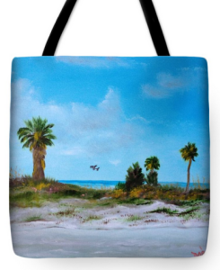 """Suncoast Beach"" Tote Bag BUY"