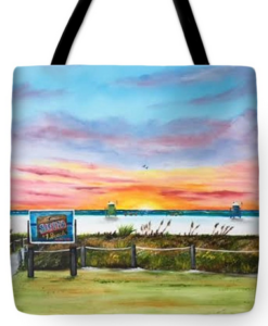 """Sunset At Siesta Key Public Beach"" Tote Bag BUY"