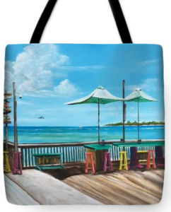 """Sunset Pier Key West"" Tote Bag BUY"