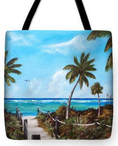 """This Way To Siesta Key Beach"" Tote Bag BUY"