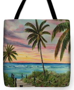 """Tropical Paradise"" Tote Bag BUY"