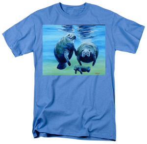 """A Manatee Family"" T-Shirt BUY $28"