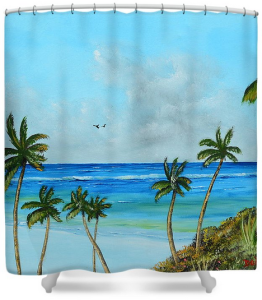 """A Piece Of Paradise"" Shower Curtain BUY"