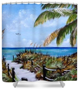 """Access To The Beach"" Shower Curtain BUY $80"