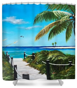 """Access To The Beach"" Shower Curtain BUY"